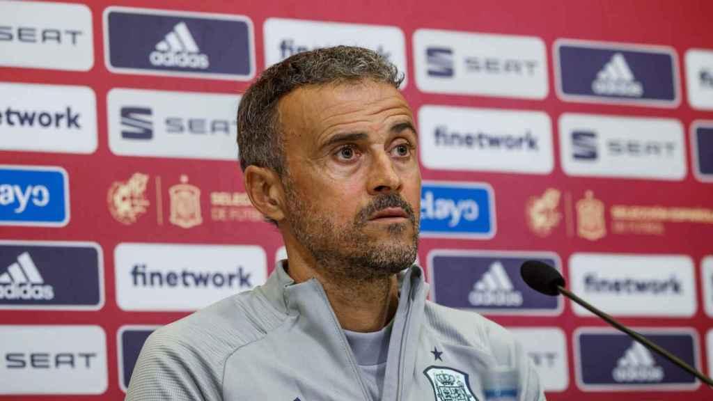 Luis Enrique, durante la rueda de prensa de la selección española de fútbol