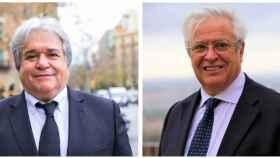 Ramón Riera, presidente saliente (izquierda), y Joan Clos, presidente entrante (derecha).