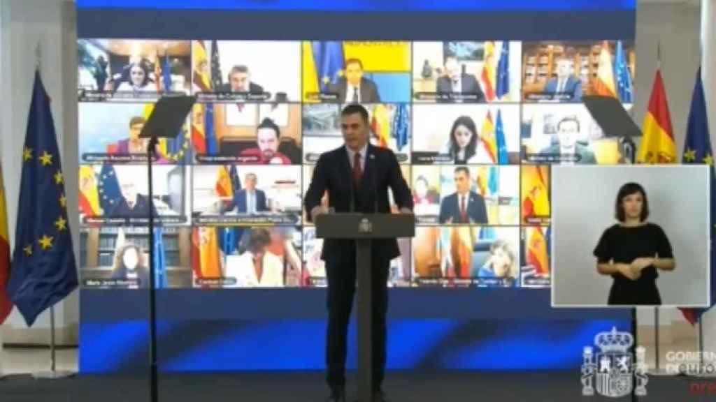 El presidente del Gobierno, Pedro Sánchez, presenta el Plan de Recuperación.