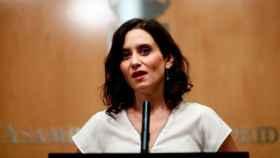 La presidenta de la Comunidad de Madrid, isabel Díaz Ayuso. Efe.