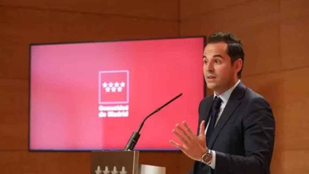 El vicepresidente de la Comunidad de Madrid, Ignacio Aguado. EP.