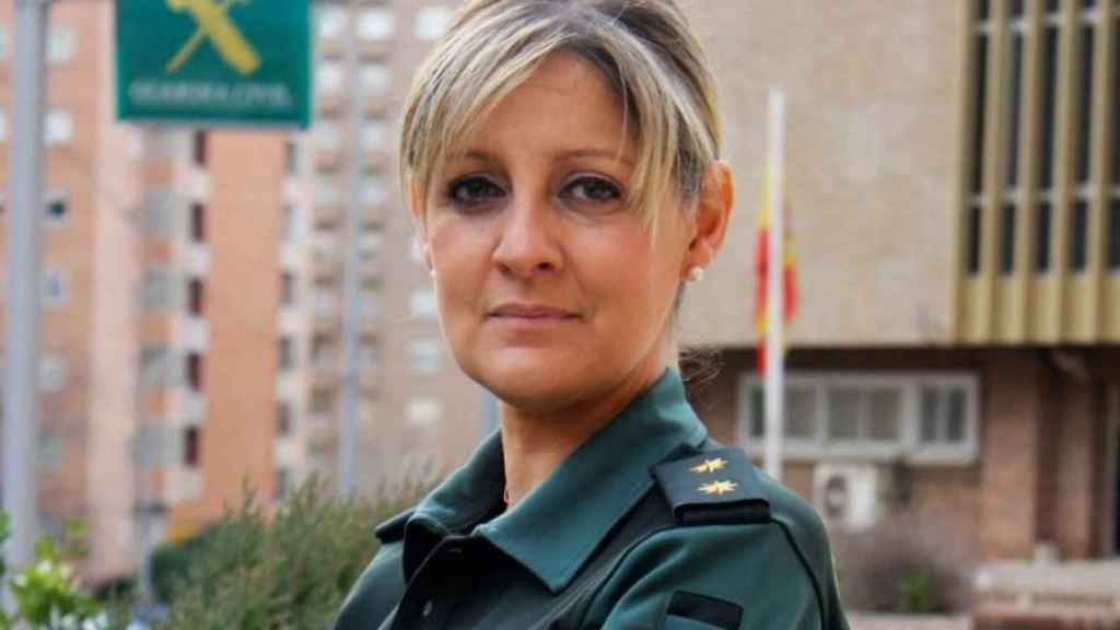 La primera teniente coronel, Cristina Moreno.