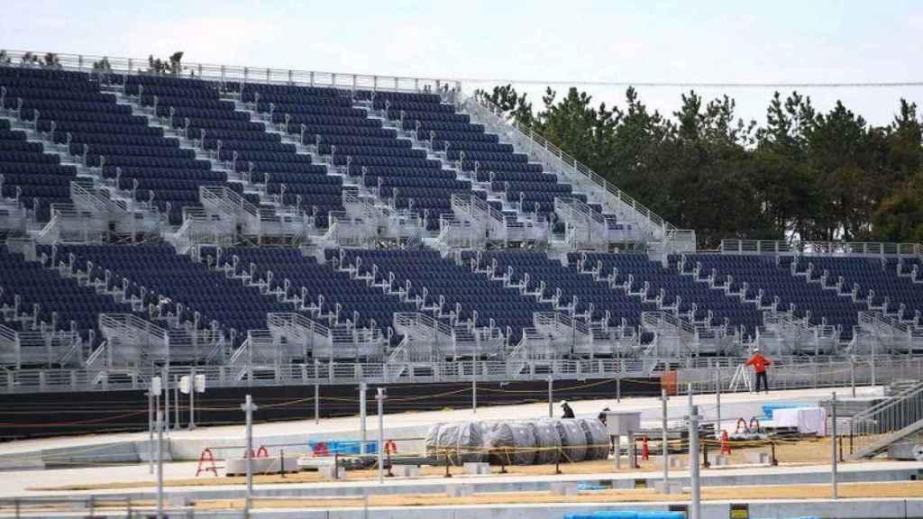 Gradas de uno de los recintos de Tokio para los Juegos Olímpicos de 2021