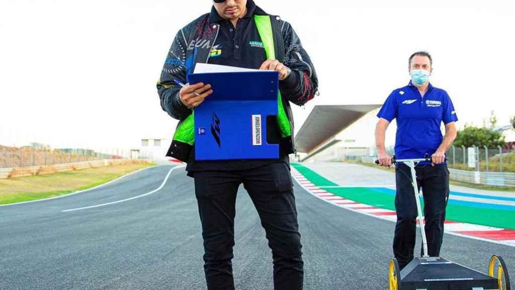Jorge Lorenzo en el circuito de Portimao