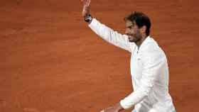 Rafa Nadal, tras ganar en cuartos de Roland Garros