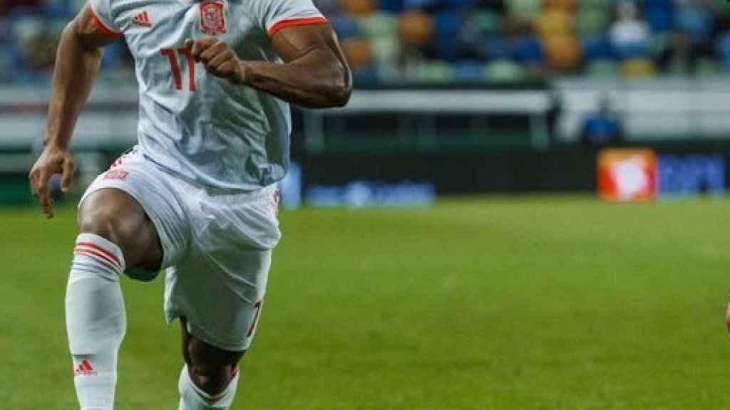 Adama Traoré, en el amistoso entre Portugal y España