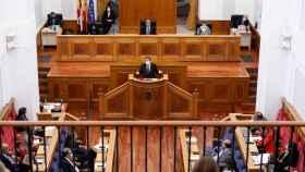 García-Page durante su intervención en el Debate sobre el Estado de Castilla-La Mancha