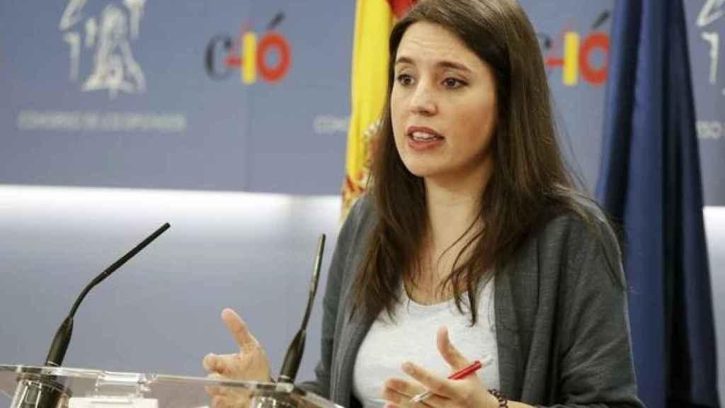 La ministra de Igualdad, Irene Montero. Efe