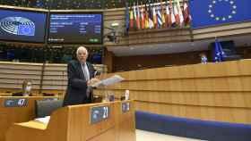 Josep Borrell, durante el debate de este miércoles en la Eurocámara sobre Venezuela