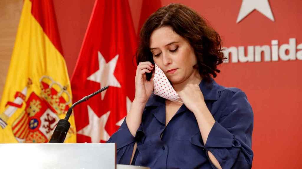 La presidenta de la Comunidad de Madrid, Isabel Díaz Ayuso, este jueves.