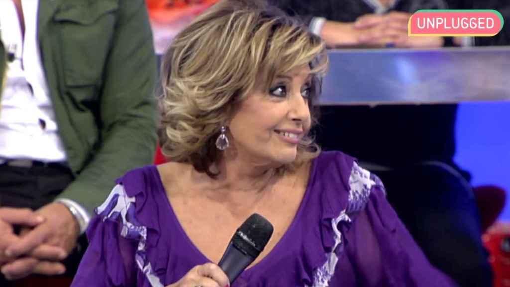 Teresa Campos en el plató de 'Sálvame' en 2012.