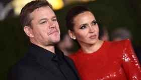 Matt Damon con su mujer Luciana Barroso.