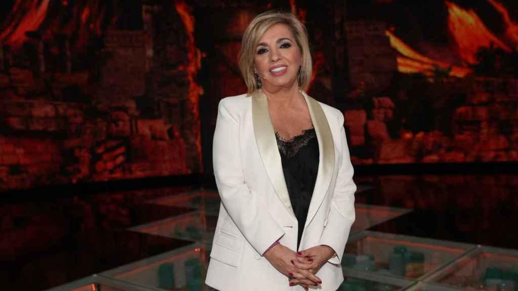 Carmen Borrego, durante una gala de 'Supervivientes'.