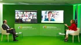 Ignacio Galán, presidente de Iberdrola, junto a Irene Lozano, presidenta del CSD