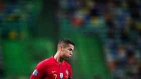 Cristiano Ronaldo, durante el partido amistoso contra España