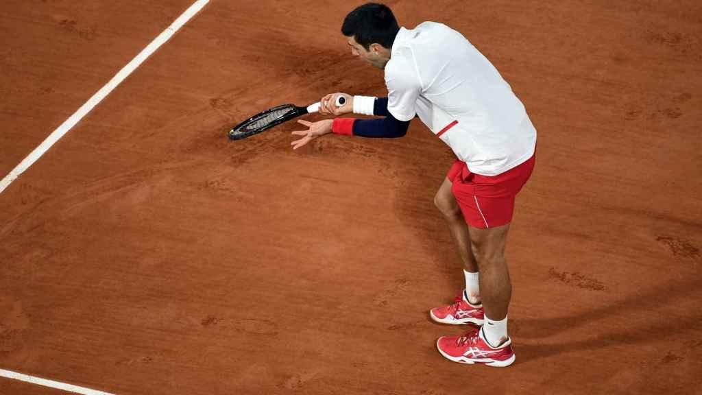 Djokovic se lamenta en una jugada