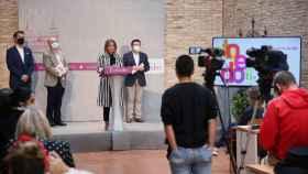 La alcaldesa de Toledo, Milagros Tolón, en la presentación de 'Toledo para ti'