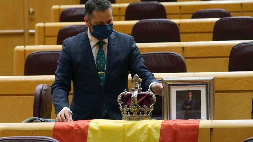 El senador del PP David Muñoz durante la comparecencia de Pablo Iglesias.