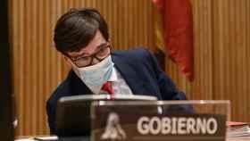 Salvador Illa, ministro de Sanidad, en la Comisión de Sanidad del Congreso.