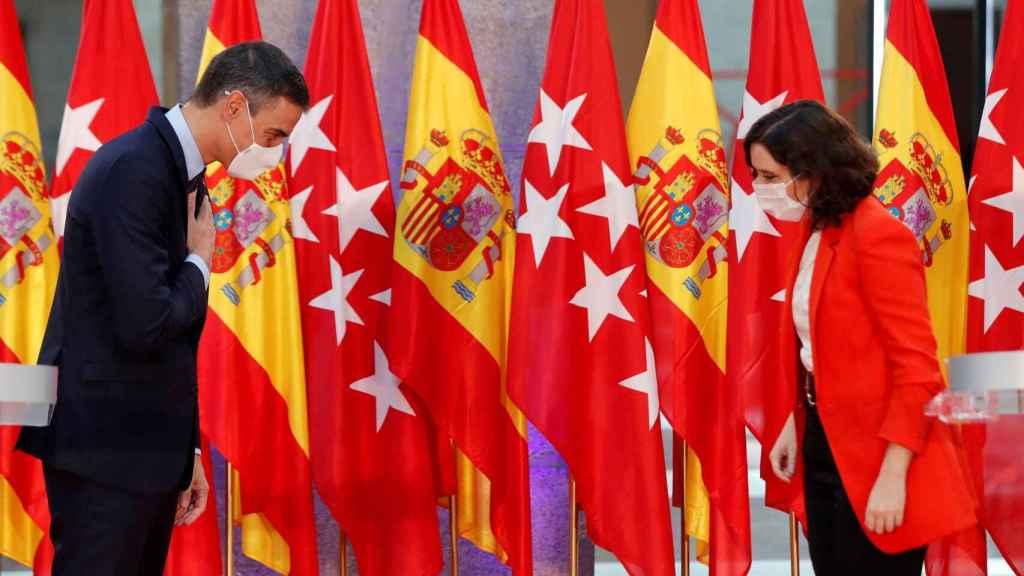 Pedro Sánchez e Isabel Díaz Ayuso, el pasado 22 de septiembre./