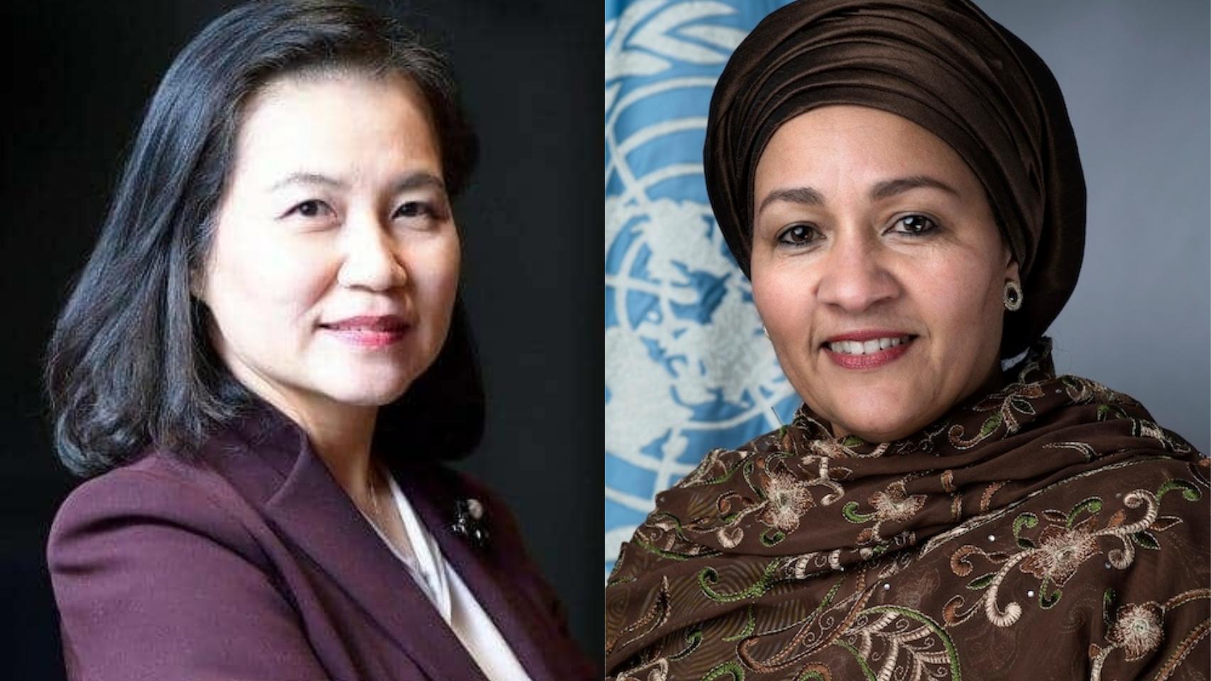 Las candidatas a la OMC son Yoo Myung  Hee y Amina Mohammed.
