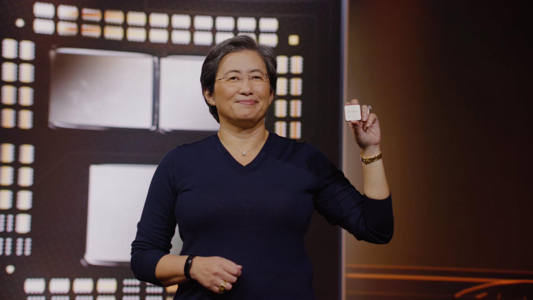 Lisa Su, CEO de AMD, con un nuevo procesador Ryzen 5000