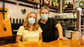 Rosa y Antonio, dueños del bar Cara y Cruz.