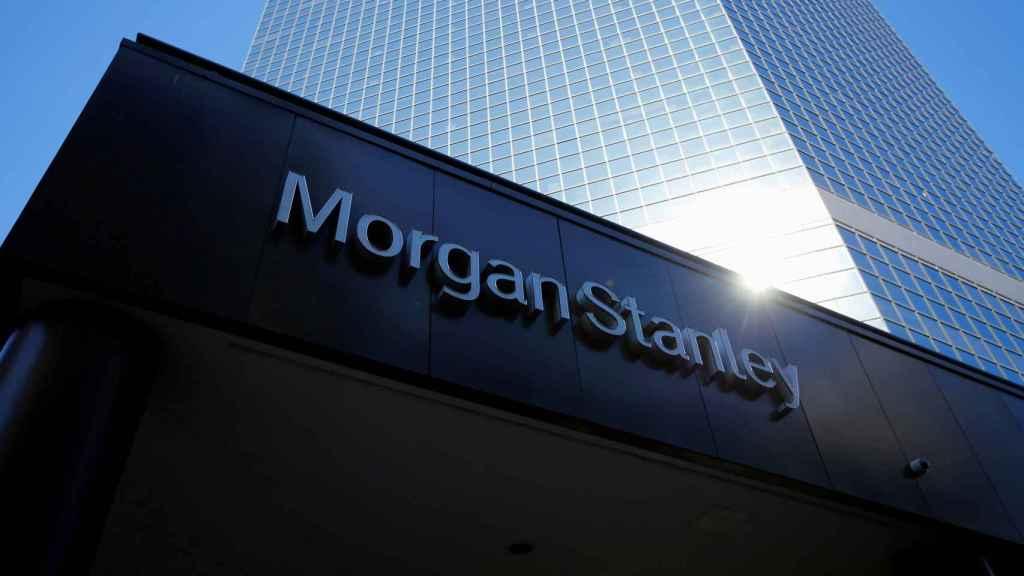 Rótulo de Morgan Stanley en una de sus sedes.