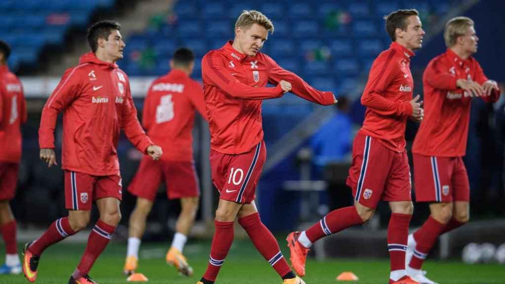 Odegaard, con la selección de Noruega