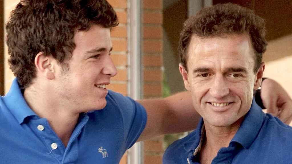 Alessandro Lequio junto a su hijo Álex, en una imagen de archivo.