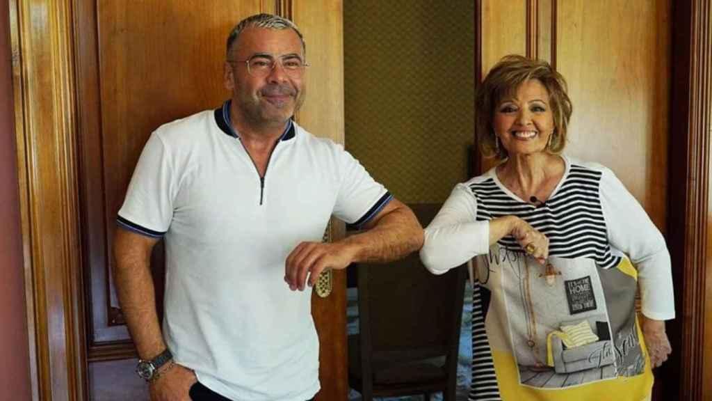 Jorge Javier durante la grabación del programa de Teresa, 'Enredados por María Teresa Campos', en YouTube.