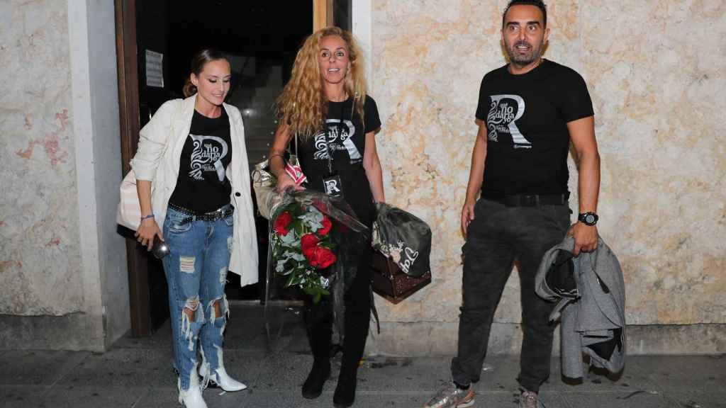 Rocío Carrasco, Fidel Albiac y Anabel Dueñas en el estreno del musical, en septiembre del 2019.