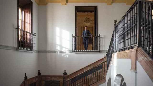 El presidente de la Junta de Andalucía, Juanma Moreno, en el Palacio de San Telmo.