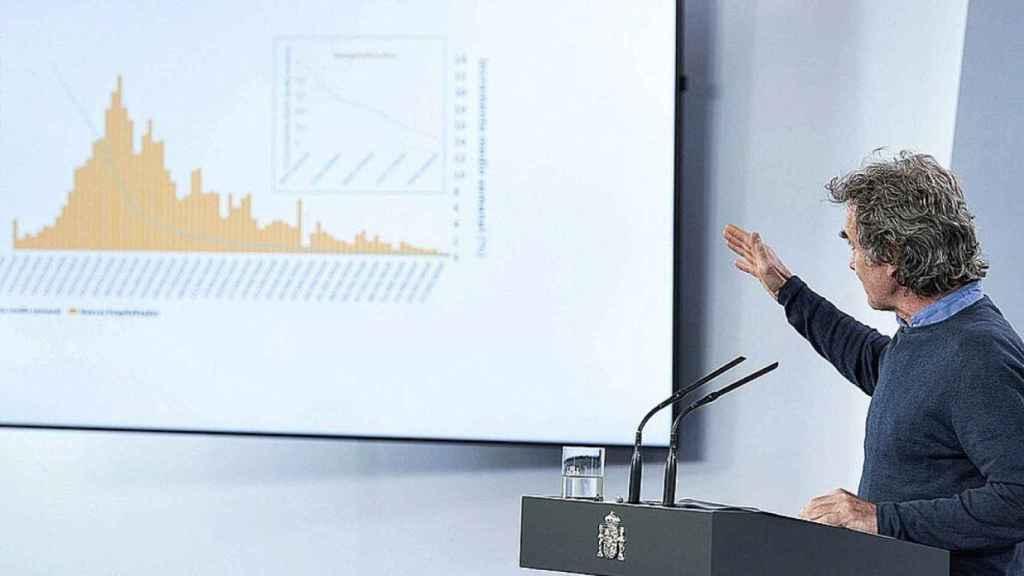Fernando Simón, explicando unos gráficos.