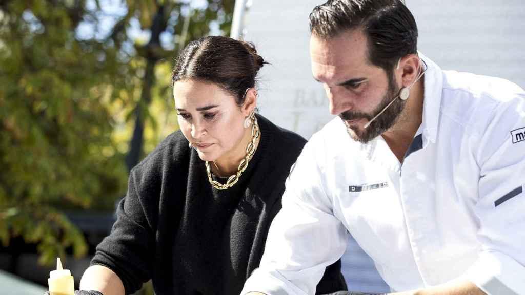 Mario Sandoval y Vicky Martin Berrocal en un evento en Madrid.