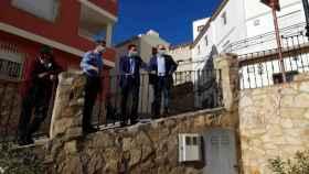 El presidente de la Diputación de Cuenca, Álvaro Martínez Chana, en Villora