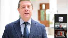El presidente de Castilla-La Mancha, Emiliano García-Page, ha participado virtualmente en la Asamblea