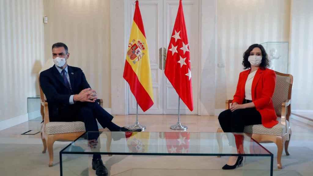 Pedro Sánchez e Isabel Díaz Ayuso, durante su última reunión.