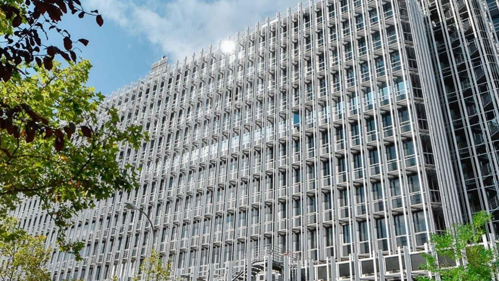 Fachada del edificio de oficinas Castellana 91 en una imagen de archivo.