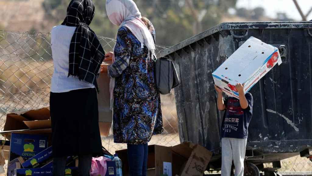 Un grupo de refugiados.