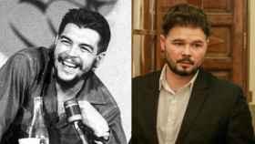 El Che Guevara y Gabriel Rufián en un fotomontaje.