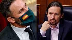 Santiago Abascal y Pablo Iglesias en un fotomontaje.