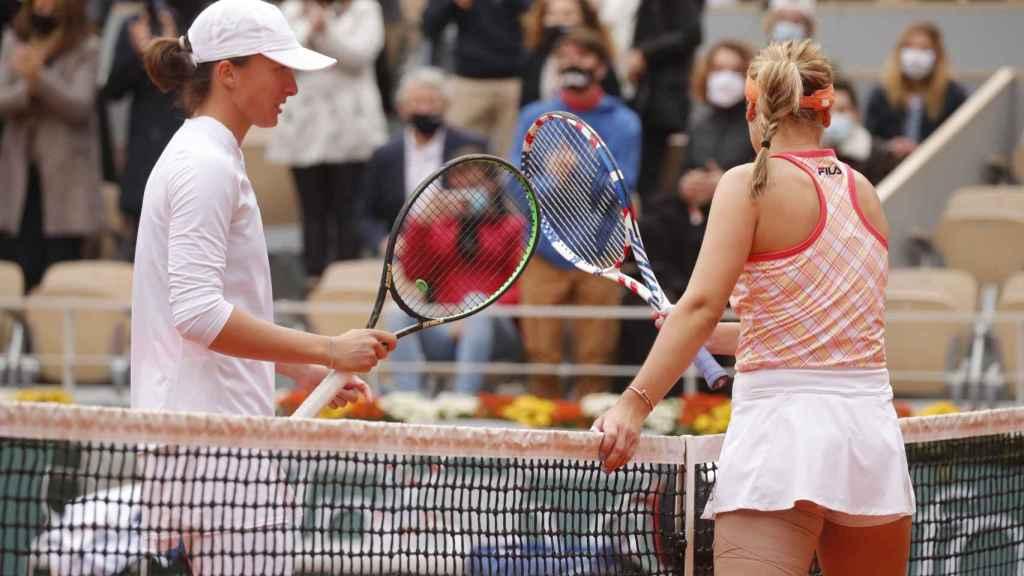Swiatek y Kenin en Roland Garros