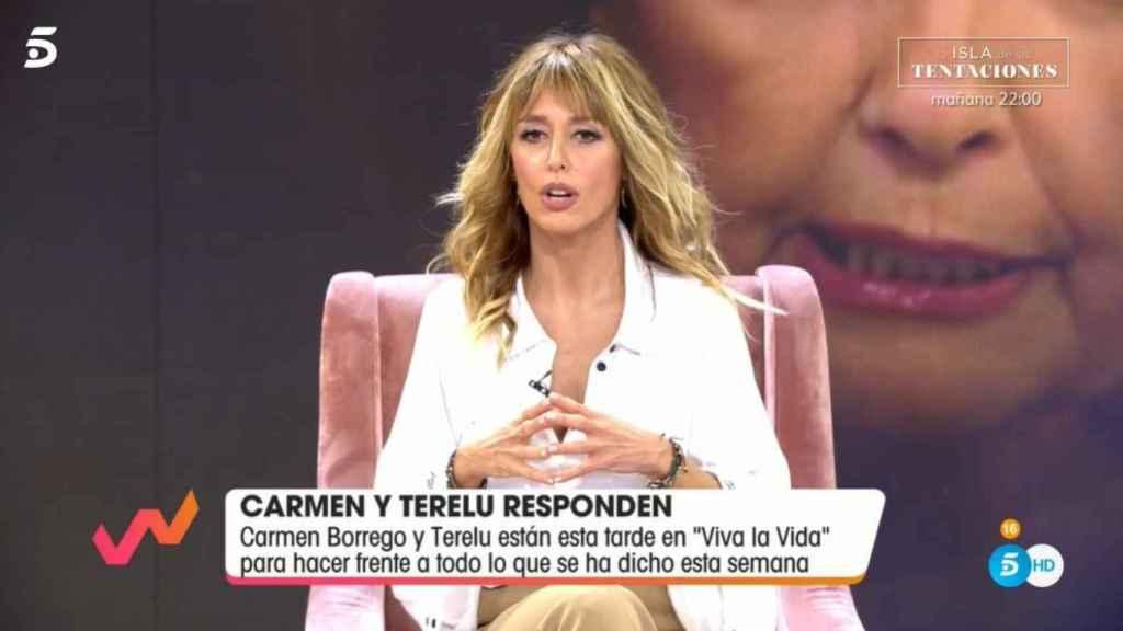 Emma García durante la entrevista a las hermanas Campos.