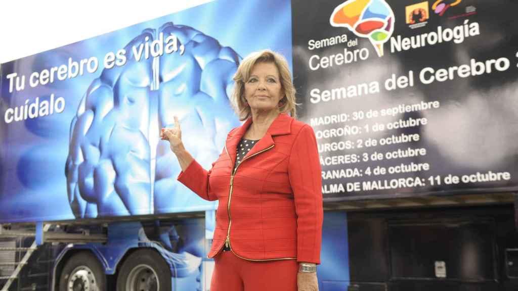 La periodista María Teresa Campos, en una campaña de prevención del ictus.