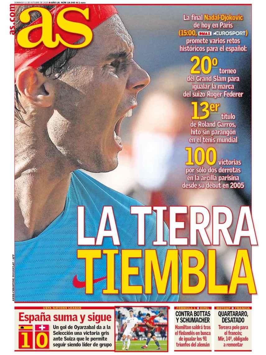 La portada del diario AS (11/10/2020)