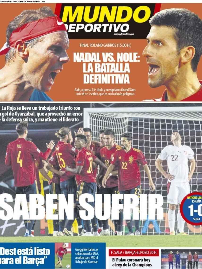 La portada del diario Mundo Deportivo (11/10/2020)