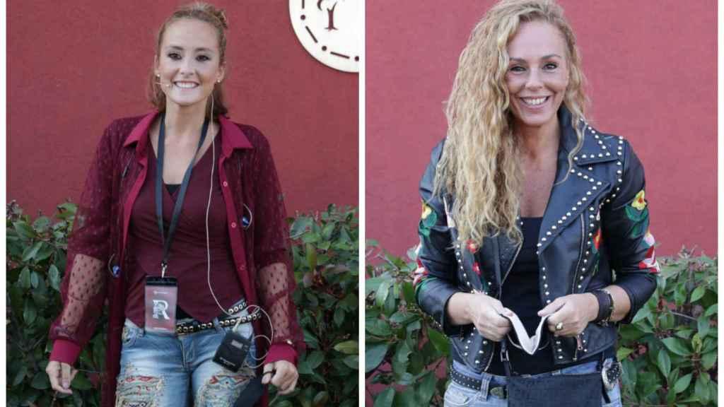 Anabel Dueñas y Rocío Carrasco en montaje de JALEOS.