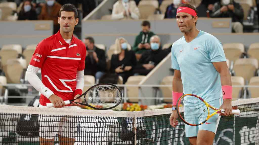 Novak Djokovic y Rafa Nadal, en la final de Roland Garros 2020