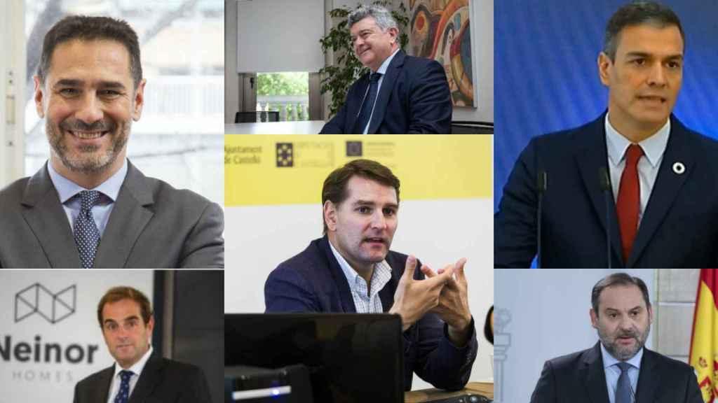 J. A. Díaz Pintado, B. Garcia-Egotxeaga Vergara, S. Fernández Valbuena, M. De la Rocha, P. Sánchez y J. L. Ábalos.